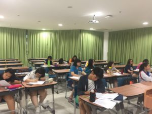 Korean language class in Xiamen University - 2016